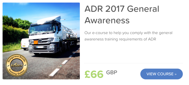ADR 2017 General Awareness Training Online elearning
