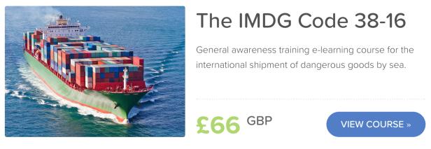 IMDG Code Online Awareness Training 38-16